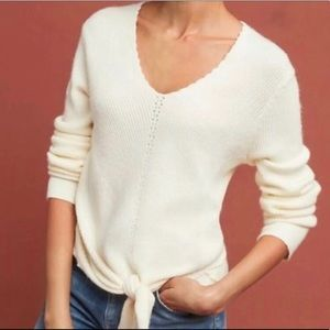 Anthropology MOTH V-neck sweater